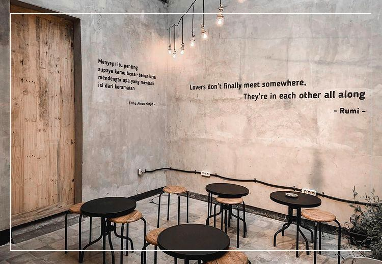 Dinding minimalis cafe
