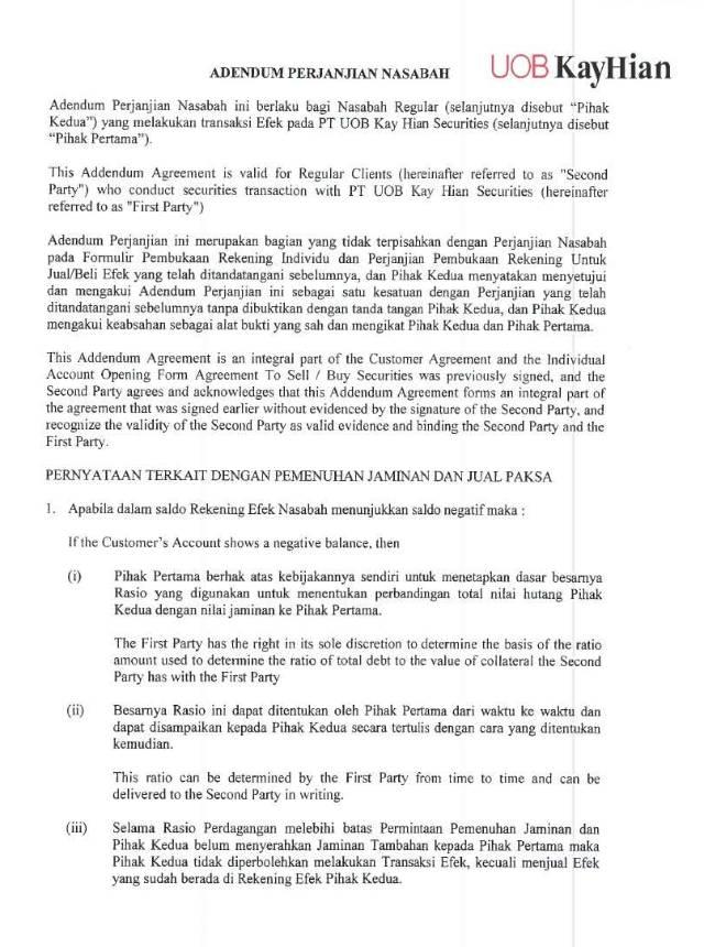 Adendum Perjanjian Nasabah