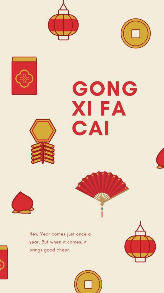 Ucapan Gong Xi Fa Cai