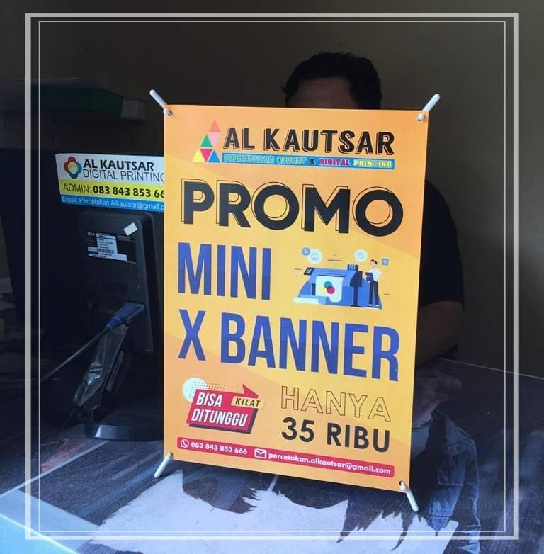 ukuran x banner mini