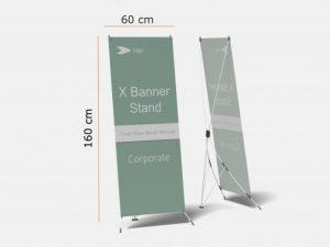 standar ukuran x-banner
