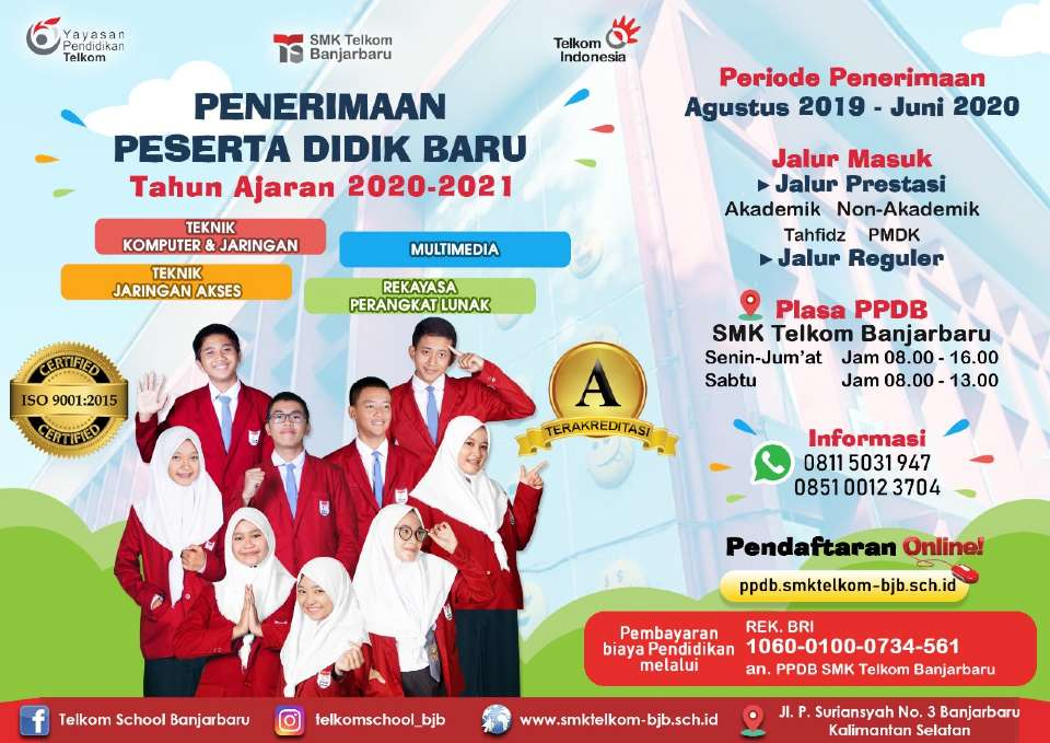 Banner PPDB SMK Telkom