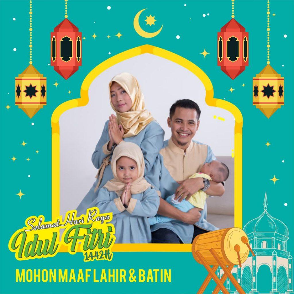 Bingkai Twibbon Ucapan Selamat Hari Raya Idul Fitri 1442H