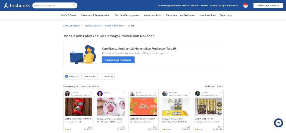 Fastwork.id situs freelancer Indonesai
